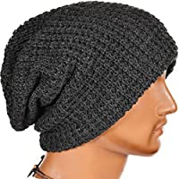 Men's Slouchy Beanie Knit Crochet Rasta Cap For Summer Winter