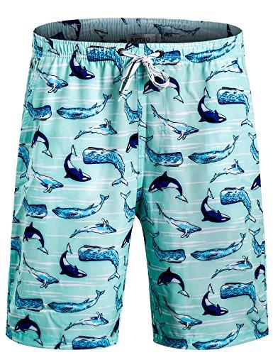 APTRO(アプトロ)水着 メンズ サーフパンツ オシャレ ゴムウェスト 防水速乾 かわいい柄 海パン