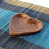 ハートのトレイ プレート 小物入れ アクセサリートレイ 天然木 エスニック アジアン雑貨 インテリア バリ風