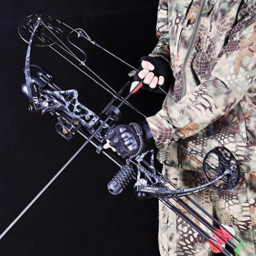 VERY100 アーチェリー 完成矢 狩猟弓 複合ボウセット 弓具 ボウ ハンティング 狩猟 競技 ブラック