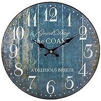 ケーアイ エポカ ウォールクロック 掛け時計 直径30cm ブルー ナンバー
