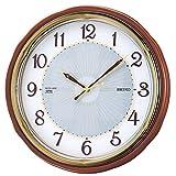 セイコー クロック 掛け時計 SOLAR+ ソーラープラス 電波 アナログ 木枠 茶 木地 SF221B SEIKO