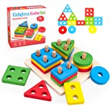 Montessori Wooden Assortment Stacking Baby Toys for Boys Girls