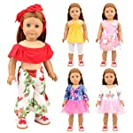 Barwa 5 Sets Fashion Doll Clothes Outfits for 18 Inch American Girl, Our Generation and for Ohter 16-18 Inch Dolls