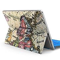 Surface pro6 pro2017 pro4 専用スキンシール サーフェス ノートブック ノートパソコン カバー ケース フィルム ステッカー アクセサリー 保護 地図 外国 国名 010243