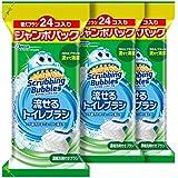 【まとめ買い】 スクラビングバブル トイレ洗剤 流せるトイレブラシ 付替用72個セット(24個×3セット)