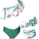 Ababalaya Mommy Dady and Me Matching Family Swimsuits Mother and Daughter Bikini Bathing Suit Beachwear Sets