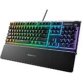 SteelSeries Apex 3 Water Resistant Gaming Keyboard, Black, 64795