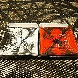 X JAPAN アクセサリートレー トレイ 白 赤セット YOSHIKI ヨシキ HIDE ヒデ TOSHI トシ X-JAPAN WE ARE X x451