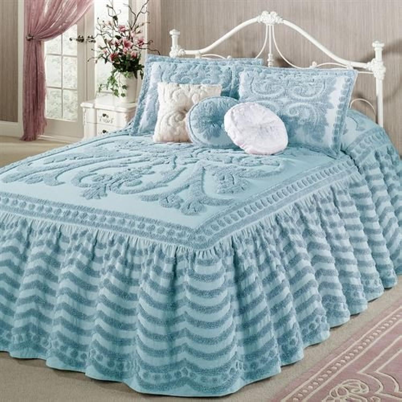 Belle Maison (R) Exclusive Illusion Grandeベッドスプレッドパステルブルー Bedspread Grande Queen ブルー
