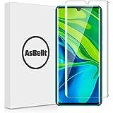 AsBellt Xiaomi Mi Note 10 フィルム 指紋認証が可能 日本旭硝子素材 Xiaomi Mi Note 10 ガラスフィルム 3Dラウンドエッジ加工 強化ガラス 硬度9H ケースと併用できる 飛散防止 抜群なタッチ感度 Xiaom