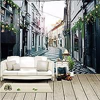 Lcymt カスタム写真ヨーロッパスタイルレトロストリートアーキテクチャリビングルームのソファテレビの背景壁壁画壁紙寝室の壁3D-280X200Cm