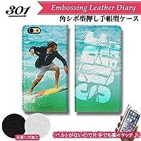 chatte noir iPhone6splus ケース iPhone6plus ケース 手帳型 おしゃれ -SURF series2- サーフ ライダー サーフィン サーファー Surf Ride ロゴ B シボ加工 高級PUレザー 手帳ケース ベルトなし