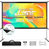 "Projector Screen with Stand, 135"" 4K HD Outdoor/Indoor Portable Projector Screen 16:9 Foldable Movie Projection Screen with C"