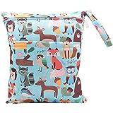 iZiv Baby Waterproof Reusable Wet Dry Bag, Nappy Bag, Reusable Wet Suit Bag, Waterproof Washable Hanging Large Diaper Bag Org