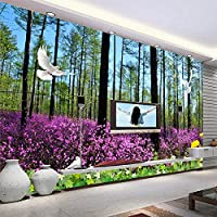 Ansyny カスタムウォール壁画壁紙用壁3d原生林花海写真壁紙用リビングルームテレビの背景家の装飾-260X175CM