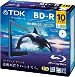 TDK 録画用ブルーレイディスク BD-R 25GB 1-4倍速 ホワイトワイドプリンタブル 10枚 5mmスリムケース BRV25PWB10A