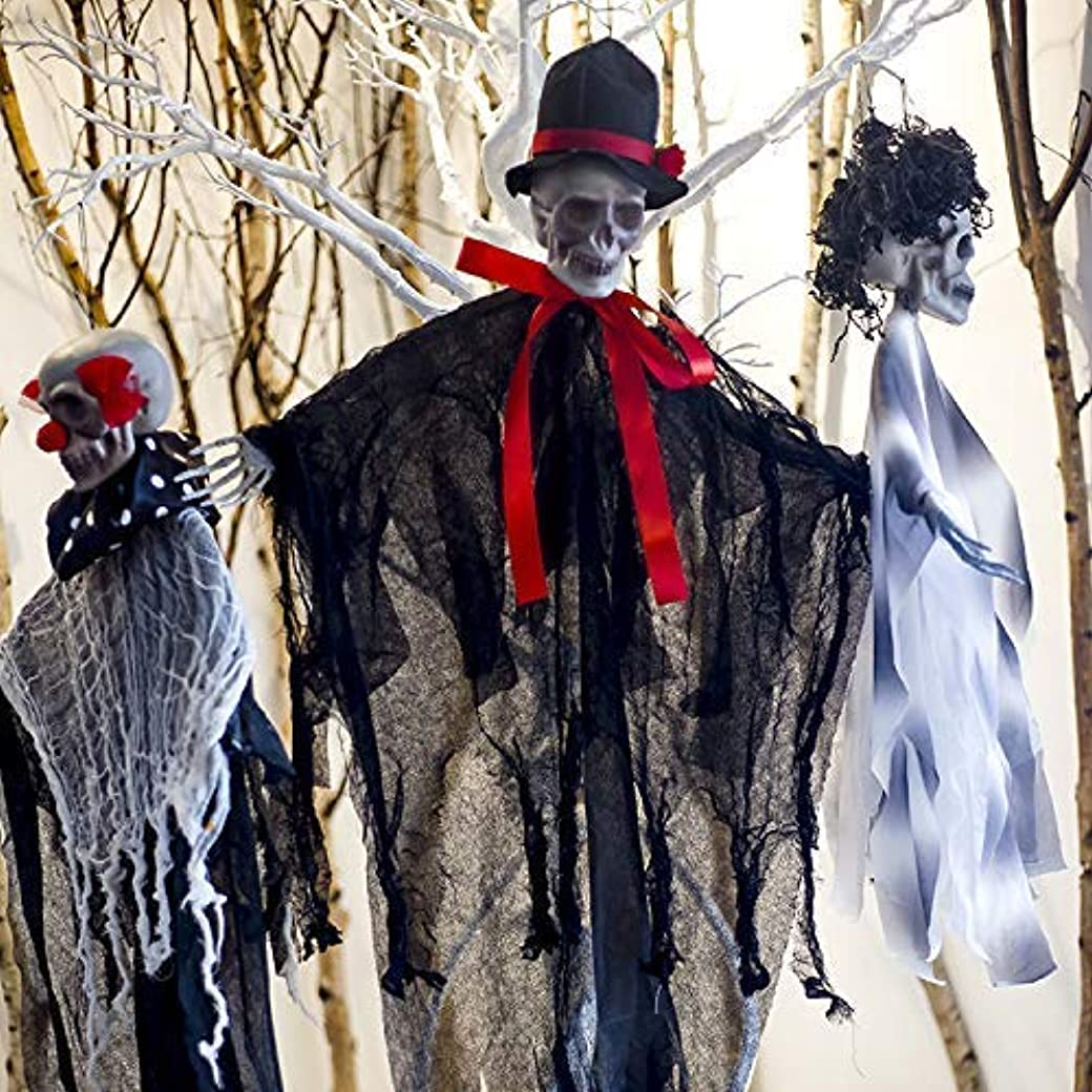 流用するリレー分岐するハロウィン恐ろしいハンギング海賊装飾魔女囚人死神ホラースカルゴーストプラスチックペンダント用パーティ