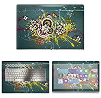 Decalrus - Protective Decal Floral Skin Sticker for HP ENVY 17M AE011DX (17.3 Screen) case cover wrap HPenvy17_ae011dx-181