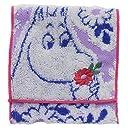 丸眞 ポケット付タオル Moomin ムーミン 12.5×12.5cm 花を摘んで 1405003300