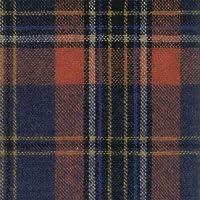 ウール【19790】【柄物】【ウール生地】カラー全5色【50cm単位 切り売り】【ウールツイード】 73 ブラック/オレンジ