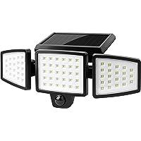 センサーライト 屋外 ソーラーライト 人感センサーライト LED投光器 太陽光充電 電気代不要 光&人感センサー 自動点…