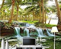 Mbwlkj パーソナライズされたSilky3D壁紙海南島のココの森の滝ウルトラHd風景の壁の背景-150cmx100cm