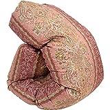 昭和西川 国産 羽毛 布団 シングル ピンク 長白ホワイトマザーグースダウン93% 増量1.2kg ダウンパワー410dp以上 80超長綿 完全立体キルト 国内パワーアップ加工