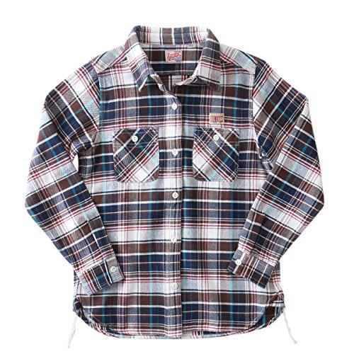 (ビルバン)BILLVAN/HOUSTON/レディース/ヘビーコットン/オールドスタイル/ワーク・チェックシャツ F 04.OFF×BROWN