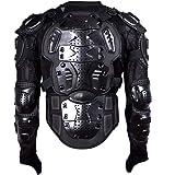 胸部プロテクター バイク オートバイ プロテクター モトクロス 上半身 プロテクター メッシュ構造 耐衝撃 調整可能 通気 BICOOL (ブラック, XL)