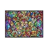 500ピース ジグソーパズル ディズニー オールスターステンドグラス ホログラムジグソー(35x49cm)