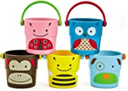 Skip Hop Zoo Stack and Pour Buckets, Rinse Cups, Multi