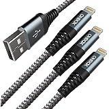 iPhone 充電ケーブル 3本セット 30CM+1M+2M USB ライトニング ケーブル 高耐久 iPhoneX/Xs/Xs Max/Xr/8 Plus/8/7 Plus/7/6s Plus/6s/6 Plus/6/iPad Air/iPad m