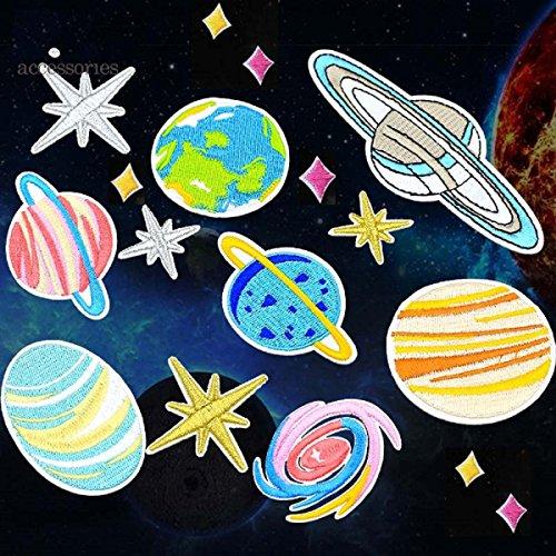 アップアップ(upup)DIY大人気わくせいアイロン接着パッチワッペン宇宙惑星16枚セット (惑星)