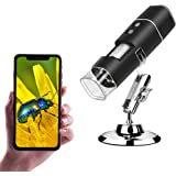ANNLOV Wireless Digital Microscope,1080P USB Portable WiFi Mini Pocket Handheld 50X-1000X Magnification Coin Camera with 8 LE