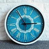 [アルコン] Archon ギリシャ文字 壁掛け時計 オリジナルデザイン ブルー [CS-AR-0124]