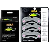 MINA ibrow Henna Black Regular Pack & Tinting Kit for ibrow Colours with ibrow Stencils (Combo Pack)