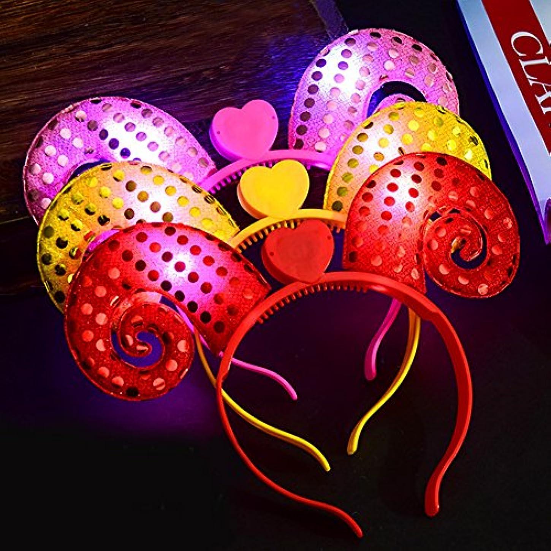 ジュース自伝チャンピオンLiebeye ライトアップカチューシャ 光るヘアバンド クリスマス 子供のヘアフープ ハロウィーンのギフト 漫画 キッズ 20#