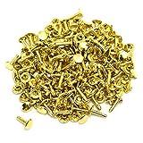 両面カシメ 大 超足長 頭9mm 足14.5mm ゴールド 100個セット
