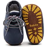 Bebila Winter Warm Lace-up Baby Booties with Suede Sole Toddler Shoes Sneaker Boots for First-Walkers 0-24 Months