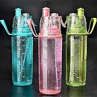 水bottlejugハイキングピクニック屋外ドリンクボトル600ミリリットルスポーツスプレー水ボトル旅行ポータブル大容量保湿-黒