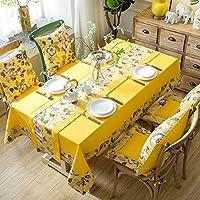 WZS テーブルクロス - テーブルクロスアメリカンスモールフローラルコットンリネンキッチンダイニングテーブルトップ装飾のための防塵長方形のテーブルカバー - tablecloths (サイズ さいず : 140x140cm)
