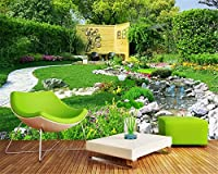 Mbwlkj カスタムクラシック防水壁紙ガーデン川の風景寝室リビングルームの背景Walltapety-250cmx175cm