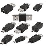 【ノーブランド品】10個入り OTG 5pin Mini チェンジャー 変換アダプタ  USB オス → メス