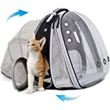 Expandable Front and Back Cat Backpack Carrier, Dual Expandable Space Capsule Transparent Clear Bubble Pet Carrier for Small