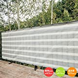 Cool Time(クールタイム) 目隠し バルコニー シェード グレー・ホワイト 360×100cm 【3年間の安心保証】