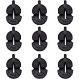 9 Tourte Style Black Rubber Mute for All Violins Small Violas Ultra Practice Silencer,