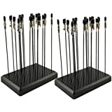 Model Painting Alligator Clip Sticks 40PCS with Stand Base 2PCS for Airbrush Hobby Model Parts