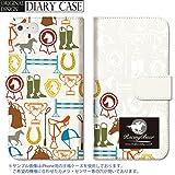 301-sanmaruichi- iPhoneSE ケース iPhone5s ケース iPhone5 ケース 手帳型 おしゃれ 競馬 グッズ 乗馬 蹄鉄 racingbuur ロゴ 馬 hourse B 手帳ケース