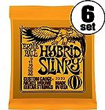 【国内正規輸入品】ERNIE BALL アーニーボール エレキギター弦 #2222 HYBRID SLINKY 6SET ハイブリッド・スリンキー 6セット ¥ 3,200